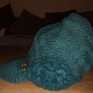 Dark Green Beanie Hat with Bill